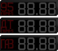 табло для АЗС с модулями P10