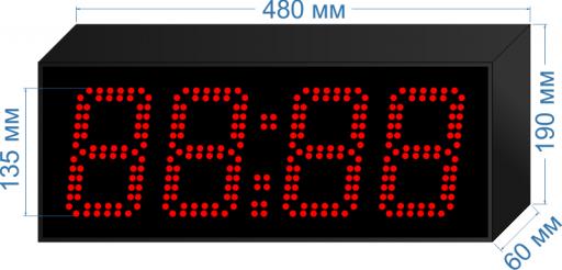 "Электронное табло уличные часы ""LEDTEX-С-HM-135"""