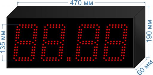 Купить электронное табло для азс «asm-135_v1» у производителя.