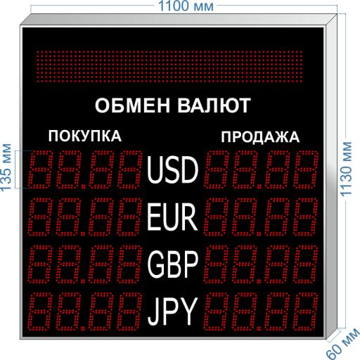 """курсы валют kv-135x4bs ООО """"Светодиодные Технологии"""""""