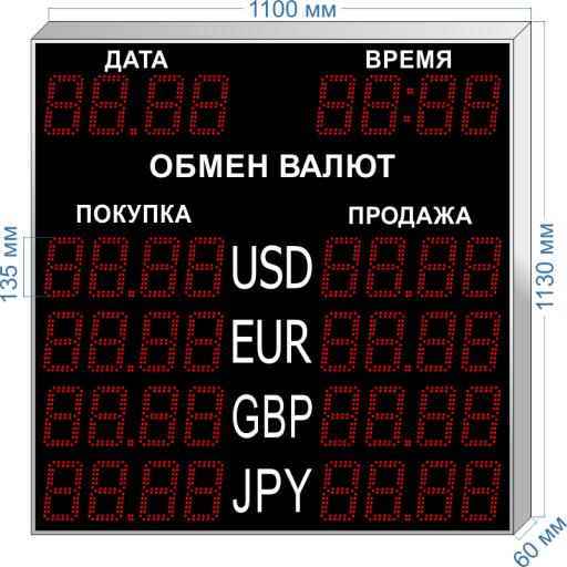 """курсы валют kv-135x4dt ООО """"Светодиодные Технологии"""""""