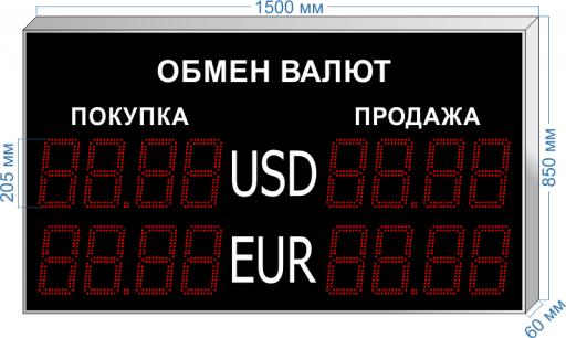 """курсы валют kv-205x2 ООО """"Светодиодные Технологии"""""""