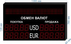 Табло курсов валют KV-135-5x2BS