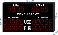 Табло курсов валют KV-135-5x2DT