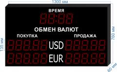 Табло курсов валют KV-135-5x2T