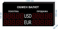 Табло курсов валют KV-135-5x2