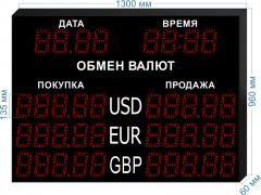 Табло курсов валют KV-135-5x3DT