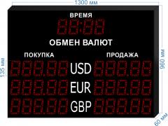 Табло курсов валют KV-135-5x3T