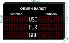Табло курсов валют KV-135-5x3