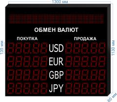 Табло курсов валют KV-135-5x4BS