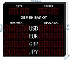 Табло курсов валют KV-135-5x4DT