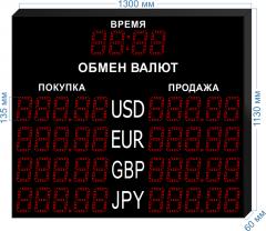 Табло курсов валют KV-135-5x4T