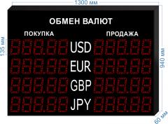 Табло курсов валют KV-135-5x4