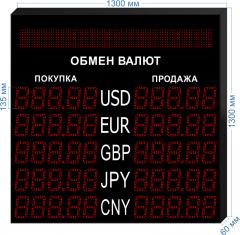 Табло курсов валют KV-135-5x5BS