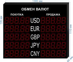 Табло курсов валют KV-135-5x5
