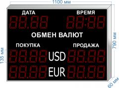 Табло курсов валют KV-135-4x2DT