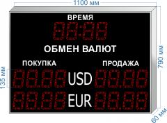 Табло курсов валют KV-135-4x2T