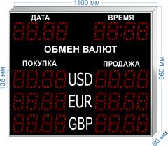 Табло курсов валют KV-135-4x3DT