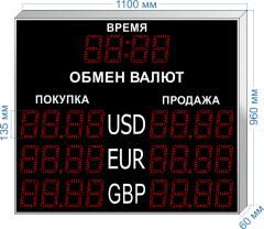 Табло курсов валют KV-135-4x3T