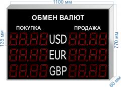 Табло курсов валют KV-135-4x3