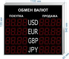 Табло курсов валют KV-135-4x4