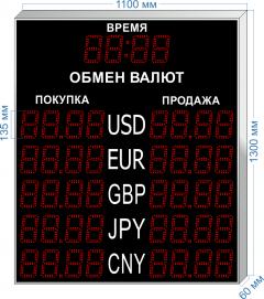 Табло курсов валют KV-135-4x5T