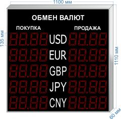 Табло курсов валют KV-135-4x5
