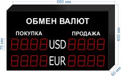Табло курсов валют KV-75-4x2