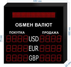 Табло курсов валют KV-75-4x3BS