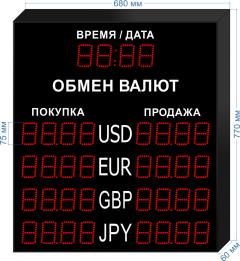 Табло курсов валют KV-75-4x4T