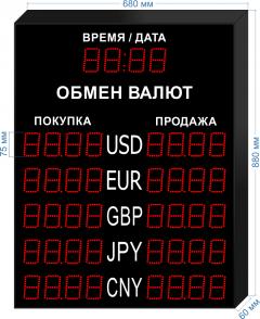 Табло курсов валют KV-75-4x5T