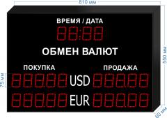 Табло курсов валют KV-75-5x2T