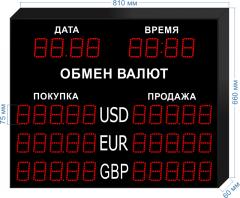 Табло курсов валют KV-75-5x3DT