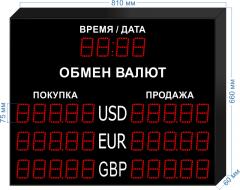 Табло курсов валют KV-75-5x3T
