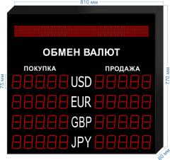 Табло курсов валют KV-75-5x4BS
