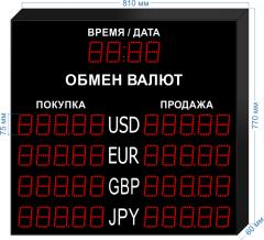 Табло курсов валют KV-75-5x4T