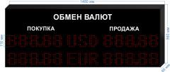 Табло курсов валют KV-M110-5x2