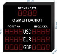 Табло курсов валют KV-75-4x3T