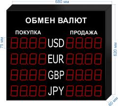 Табло курсов валют KV-75-4x4