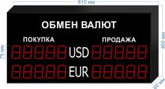Табло курсов валют KV-75-5x2