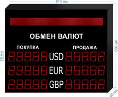 Табло курсов валют KV-75-5x3BS